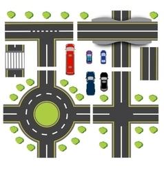 Set design of transport interchanges vector