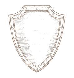 shield hand drawn sketch vector image vector image