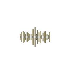 soundwave computer symbol vector image vector image