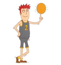 Spinning a basketball vector