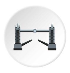 Tower bridge icon circle vector
