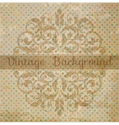 vintage template with vintage elements vector image vector image