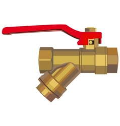 Bronze ball valve vector