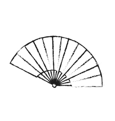 Isolated china fan design vector