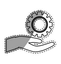Isolated gear piece vector