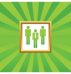 Work group picture icon vector