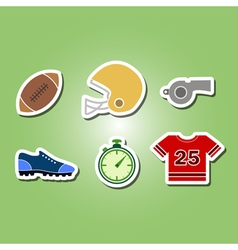 Color set with american football icons vector