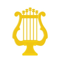 Golden lyre vector