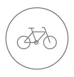Bicycle line icon vector