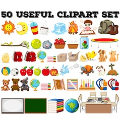 Fifty kind of different objects vector