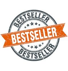 Bestseller round orange grungy vintage isolated vector