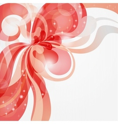 Abstract love theme background in red tones vector image