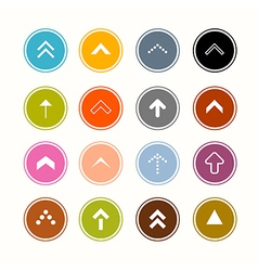 Arrows Set in Circles vector image vector image