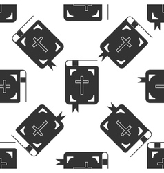 Bible icon pattern on white background Adobe vector image