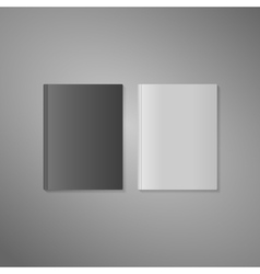 Blank book cover in white and dark variant vector