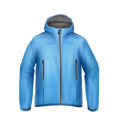 Blue unisex jacket vector