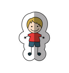 boy happy with blonde hair icon vector image vector image