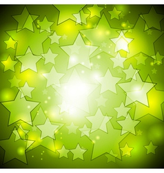 Bright green stars design vector image vector image