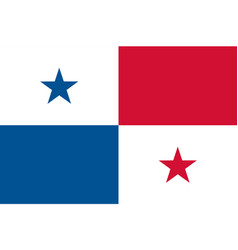 Colored flag of panama vector