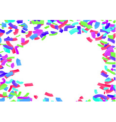 colorful bright confetti abstract layout over vector image vector image