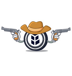 Cowboy bancor coin character cartoon vector