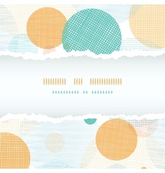 Fabric circles abstract horizontal seamless vector image vector image