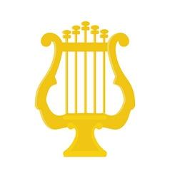 Golden lyre vector image vector image