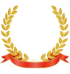 laurel wreath and ribbon vector image