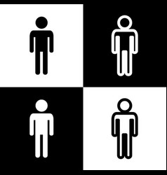 Man sign black and white vector