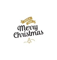 Merry Christmas typographic emblems set vector image vector image