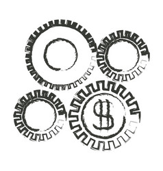 Monochrome blurred silhouette of economic vector
