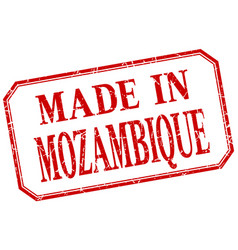 Mozambique - made in red vintage isolated label vector