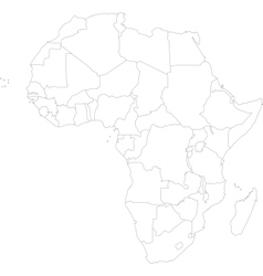 Outline africa map vector