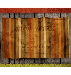 Paper textured new york background vector