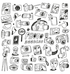 Photography Doodles vector image