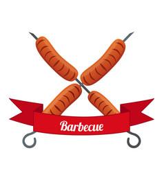 sausage logo label for menu flat style vector image vector image