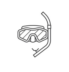 scuba diving mask icon vector image vector image
