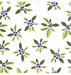 Seamless pattern with vegetative elements vector