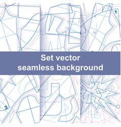 Set seamless sewing pattern texture vector