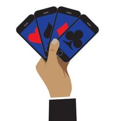 Smartphones in hand vector image