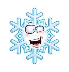 Snowflake Head AHA vector image vector image