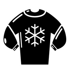 Sweater icon simple black style vector