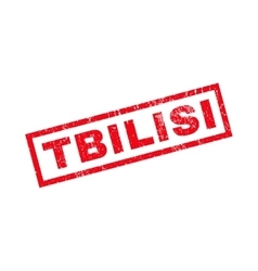 Tbilisi rubber stamp vector