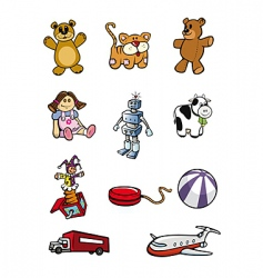toys collection vector image vector image