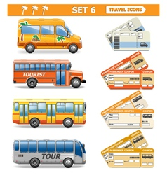 Travel icons set 6 vector