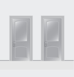 two doors on a white background vector image