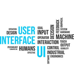 Word cloud user interface vector
