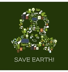 Save earth eco environment banner vector