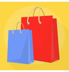 Shopping bags template vector image