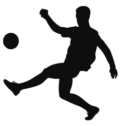 Silhouette of a football player on the field vector